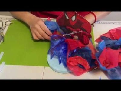 Spider man. , centro de mesa
