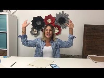 Taller # 12 | Mayra Soto | Ovalos Flower Paper Art
