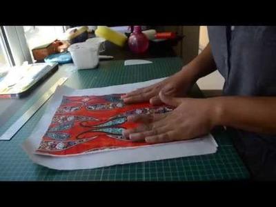 Técnica de empapelado de telas