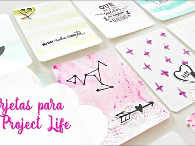 Tutorial: cómo hacer tarjetas de project life | How to make project life cards. Scrapeando con Rocío