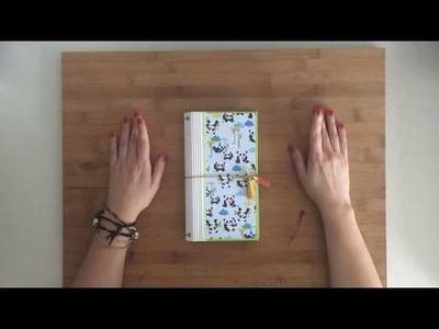 Tutorial diario de viaje desde cero (Midori. Travelers notebook))