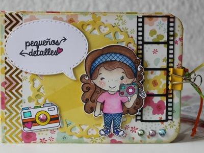 Tutorial Mini Álbum - Día Internacional del Scrapbook con Dilo en Español