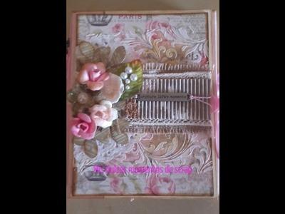 """Tutorial mini album """"sweet paris"""" para scrap low cost :)"""