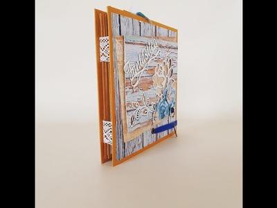 Tutorial Scrap. ¿ Cómo hacer un Flip Book Fácil, que me sirva como Mini Álbum?