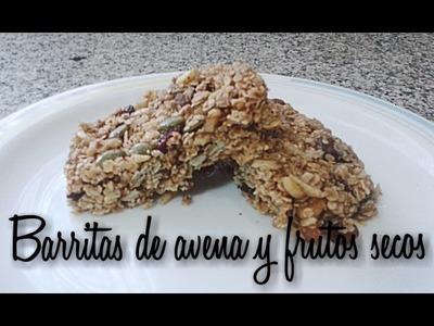 0138★Barritas de AVENA y frutos secos sin horno