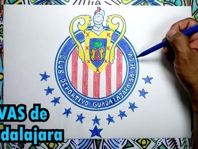 Aprende a dibujar el escudo de Chivas de Guadalajara de Mexico
