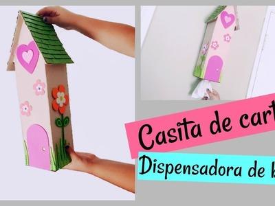 CASITA DE CARTÓN DISPENSADORA DE BOLSAS DE PLÁSTICO!!! | Ash+LesTv