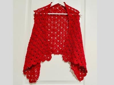 Chaleco rojo a crochet paso a paso.