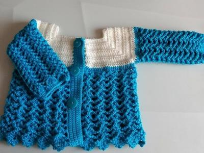 Chambrita a crochet para bebe parte #2  (CHOMPA SWEATER SAQUITO ABRIGO JERSEY)