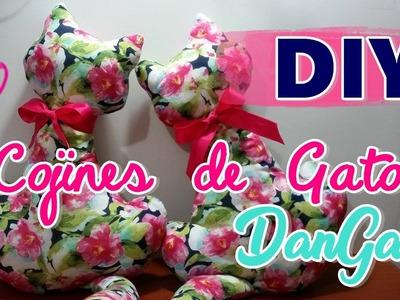 Cojín de Gatito tutorial. DIY cojín de Gato. DanGar  ❤