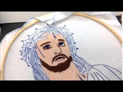 Como bordar una manta con aguja maravillosa - estambre Cristy Estambres Karina