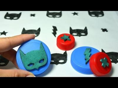 Cómo ESTAMPAR TELA - SELLOS CASEROS con tapas de plástico