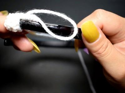 Como forrar una diadema en crochet parte 1