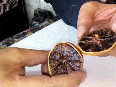 Como hacer aretes con rodajas de naranja