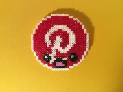Como hacer  el logo PINTEREST KAWAII con Hama Beads mini fácil y sencillo paso a paso en Español.