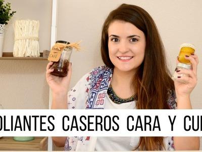 CÓMO HACER EXFOLIANTES CASEROS PARA CARA O CUERPO CON ACEITE DE COCO ft. Mispotinguesyyo