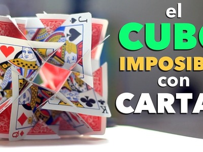 Cómo Hacer un CUBO IMPOSIBLE con Cartas Tutorial