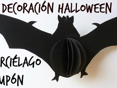 Cómo Hacer un Murciélago de Papel, Decoración para Halloween. El Día de los Muertos