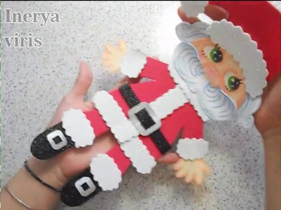 Cómo hacer un Santa Claus navideño Papá Noel Tutorial Inerya viris