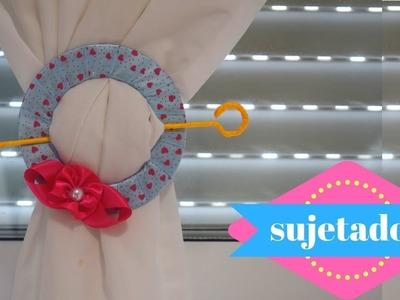 Como hacer un sujetador de cortinas fácil y rápido ♥ | Margari