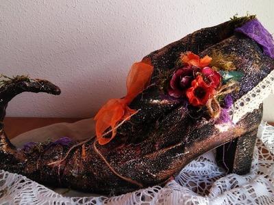 Cómo hacer un zapato de bruja - Halloween - TUTORIAL - DIY Witch Shoe