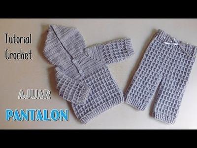 Como tejer un ajuar a crochet: pantalón