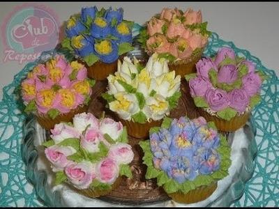 Cómo Usar las Boquillas Rusas de Flores - Cupcakes Decorados Fácil y Rápido │Club de Reposteria