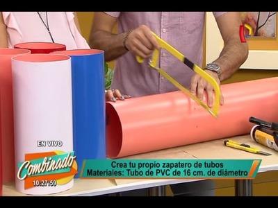Crea tu propio zapatero de tubos con esta sencilla técnica
