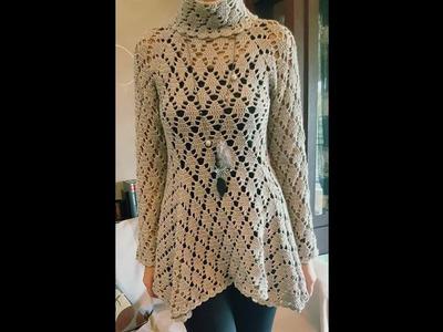 Crochet jersey facil en todas las tallas how to jersey (subtittles several lenguage)
