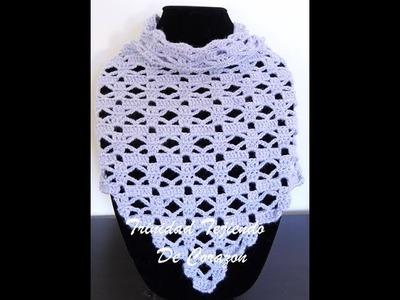 Crochet: Pañuelo en Punto Combinado # 30