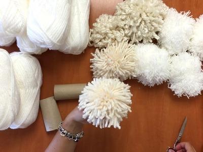 Diferentes formas de hacer pompones