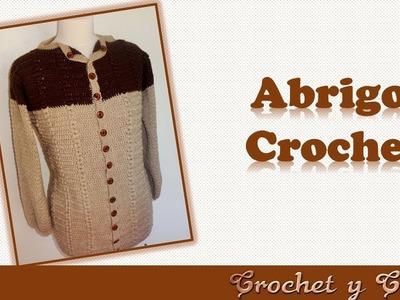 DIY Abrigo – cárdigan con punto espiga a crochet (2 de 3)