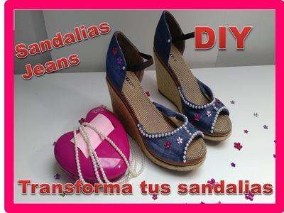"""DIY Como Forrar Zapatos con tela en este caso Forrar Sandalias   """"Customizar, Renovar, Reciclar"""""""