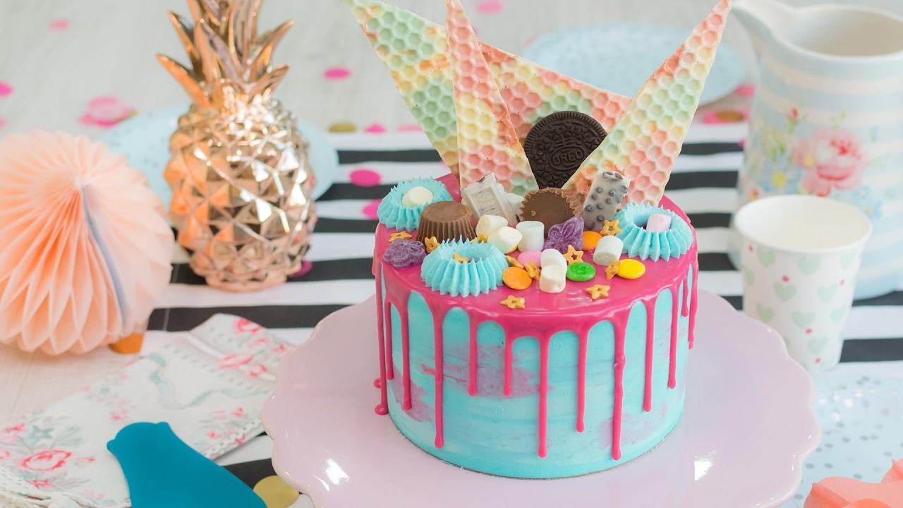 Drip cake de limón y coco - Receta - María Lunarillos | tienda & blog