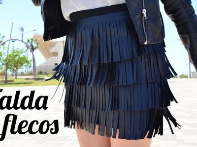 Falda de flecos diy - Departamento de Ideas