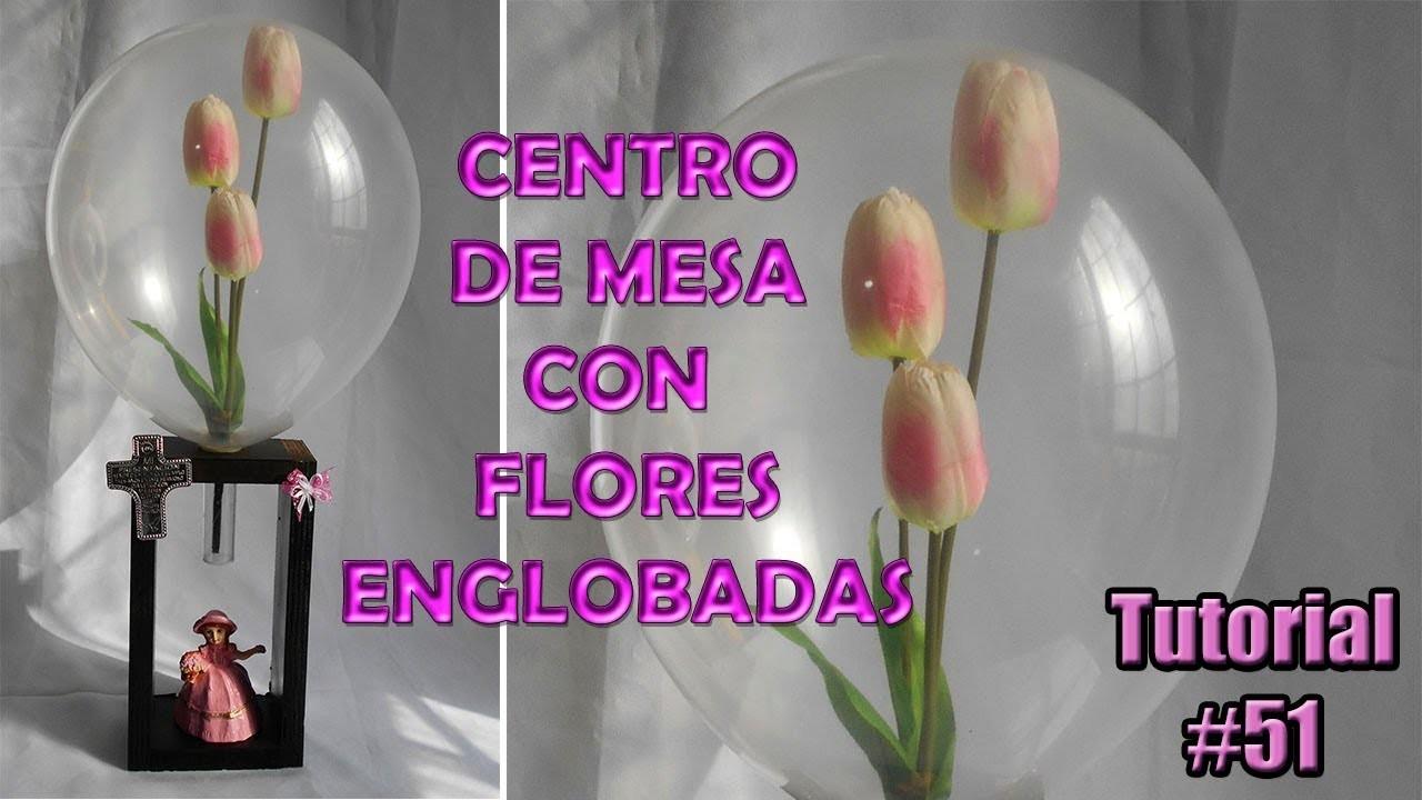 Flores Englobadas Centro de Mesa con Flor dentro de globo para Presentación con Englobadora de flore