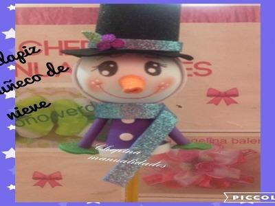 Fofuliapiz muñeco de nieve