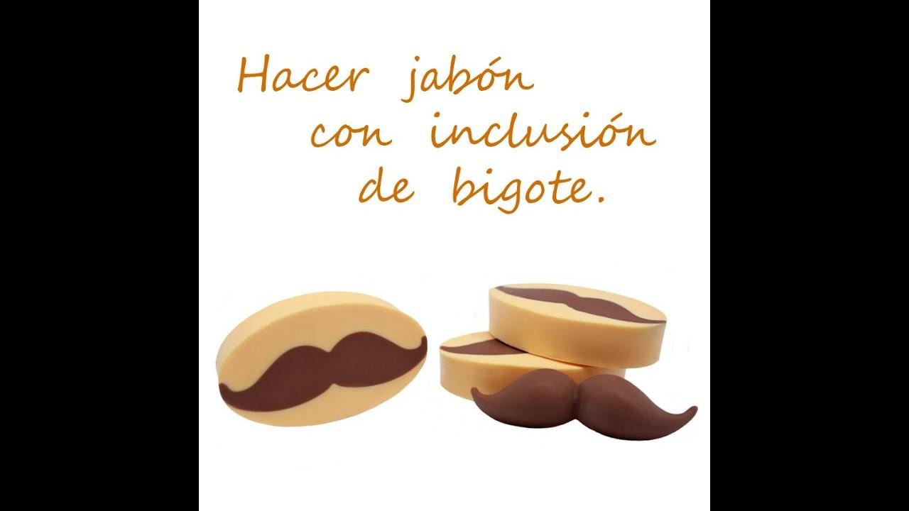 Hacer detalles de boda para hombres: Jabón con forma de Bigote.