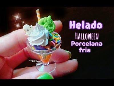 HELADO halloween ???? miniatura PORCELANA FRIA