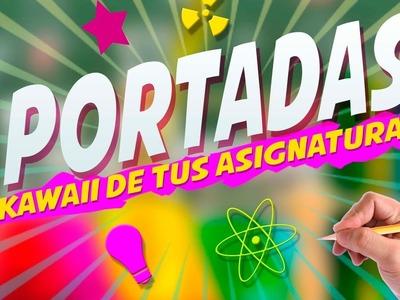 IDEAS PARA DECORAR TUS APUNTES ! COMO HACER TITULOS | DECORA TUS CUADERNOS KAWAII - FISICA Y QUIMICA