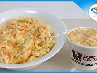 La receta secreta de la ENSALADA DE COL TIPO KFC,  2 recetas de ensalada de col, #466    Chef Roger
