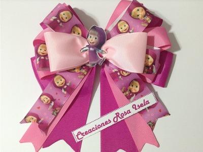 Lazo de Masha VIDEO No.506 creaciones rosa isela