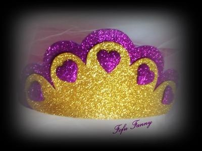 MANUALIDADES FACILES - Corona de princesa de goma eva
