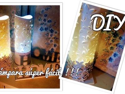 MANUALIDADES FACILES Y RÁPIDAS Como hacer una LAMPARA !! SUPER FACIL¡¡¡ DIY, con goma Eva - fomi
