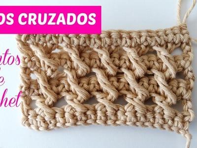 Puntos de crochet, rizos cruzados