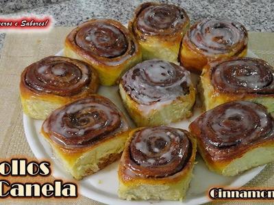 ROLLOS DE CANELA Cinnamon Rolls,  receta super fácil
