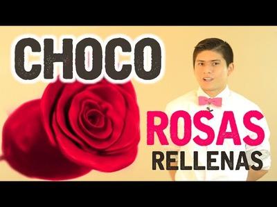 Rosas de CHOCOPLASTILINA rellenas de fresas | San Valentín