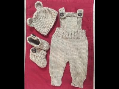 Set Bebe Osito - gorro (a crochet)
