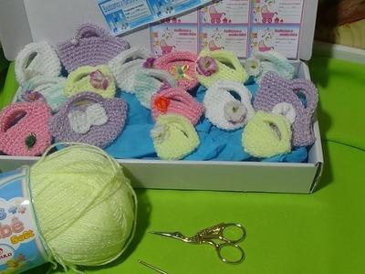 Souvenirs mini bolsitas paso a paso en crochet