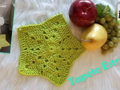 TAPETE en forma de ESTRELLA a Crochet